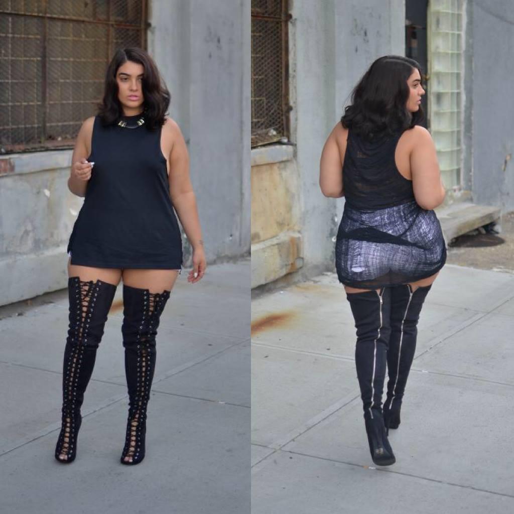 نادية أبو الحسن عارضة أزياء من الوزن الثقيل