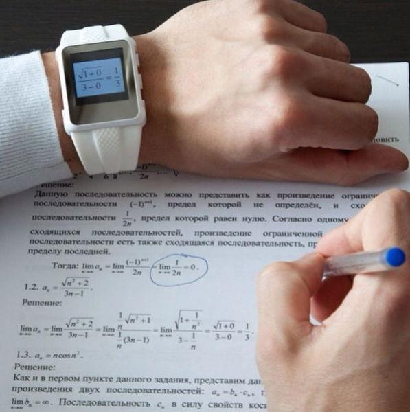 صور احدث تقنيات الغش في الامتحانات