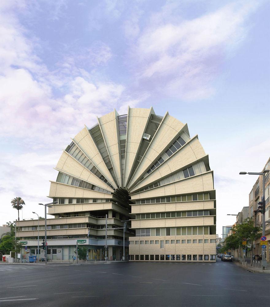 Schöne architektonische entwürfe und unmöglich