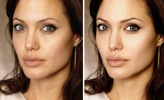 صور مشاهير قبل و بعد الفوتوشب
