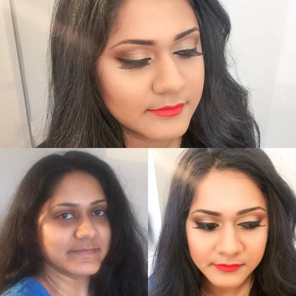 صور نساء قبل و بعد المكياج