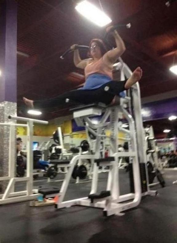 funny and stupid people in the gym
