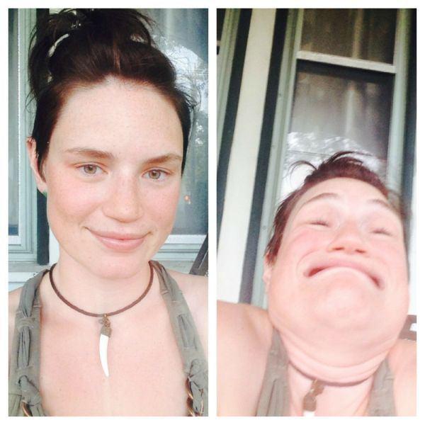 Fotos Von Schönen Mädchen Machen Lustige Gesichter 2 Lustige Bilder