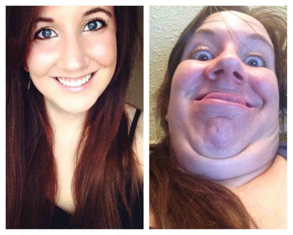 صور بنات جميلات يقمن بتعابير وجه مضحكة 2