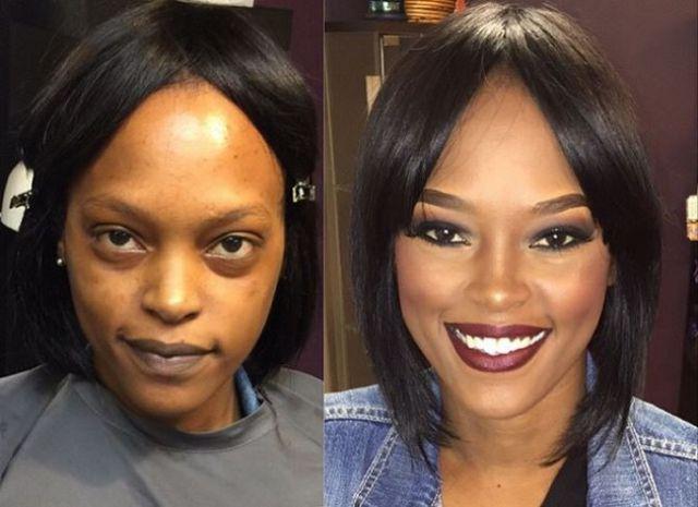 معجزات المكياج  - صور قبل و بعد