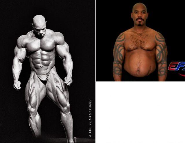 صور قبل وبعد كمال الأجسام