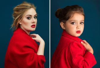 صور بنت صغيرة جميلة تقلد المشاهير