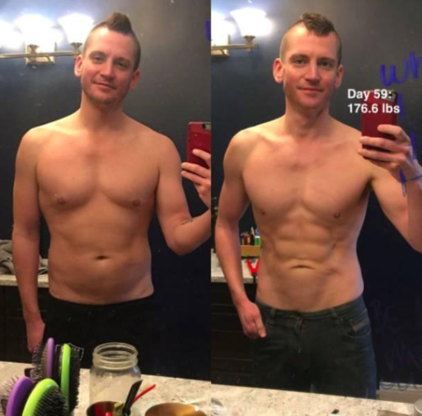 صور رجال قبل وبعد فقدان الوزن
