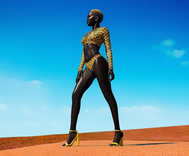 فتاة سمراء تبهر العالم بجمالها و ببشرتها السوداء الداكنة