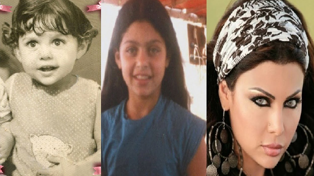 صور نساء مشاهير العرب وهن صغيرات