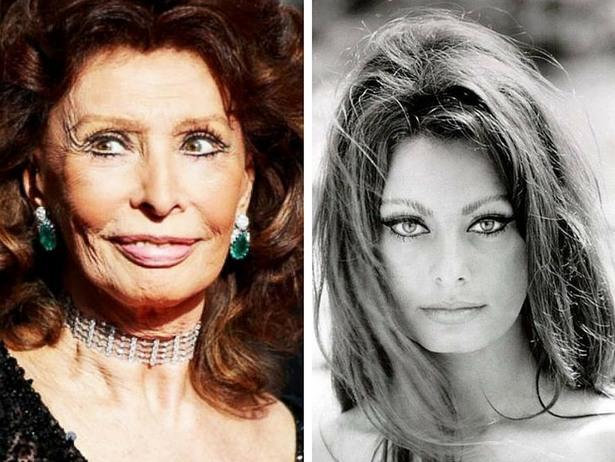 صور نساء مشاهير وهن شابات جميلات