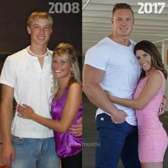 صور تحول شاب نحيل إلى كتلة من العضلات
