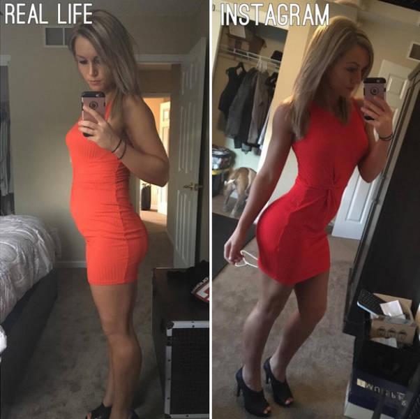 فرق بين صور بنات في انستقرام وفي الحياة العادية